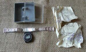 Vintage Minsk USSR Soviet ELEKTRONIKA Digital Watch Band Box Document for parts