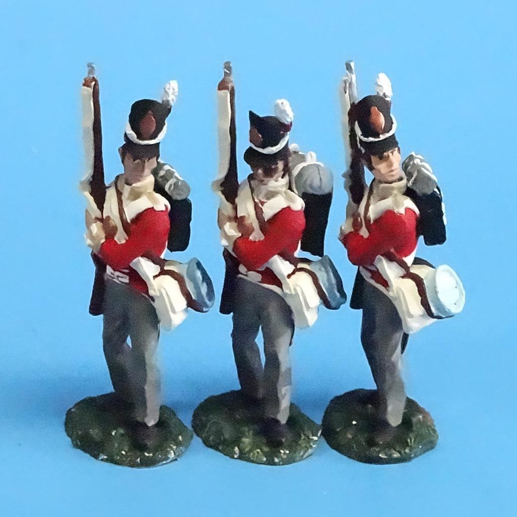 CORD-N0160 - British Infantry - Port Arms (3 Pieces) - Napoleonics
