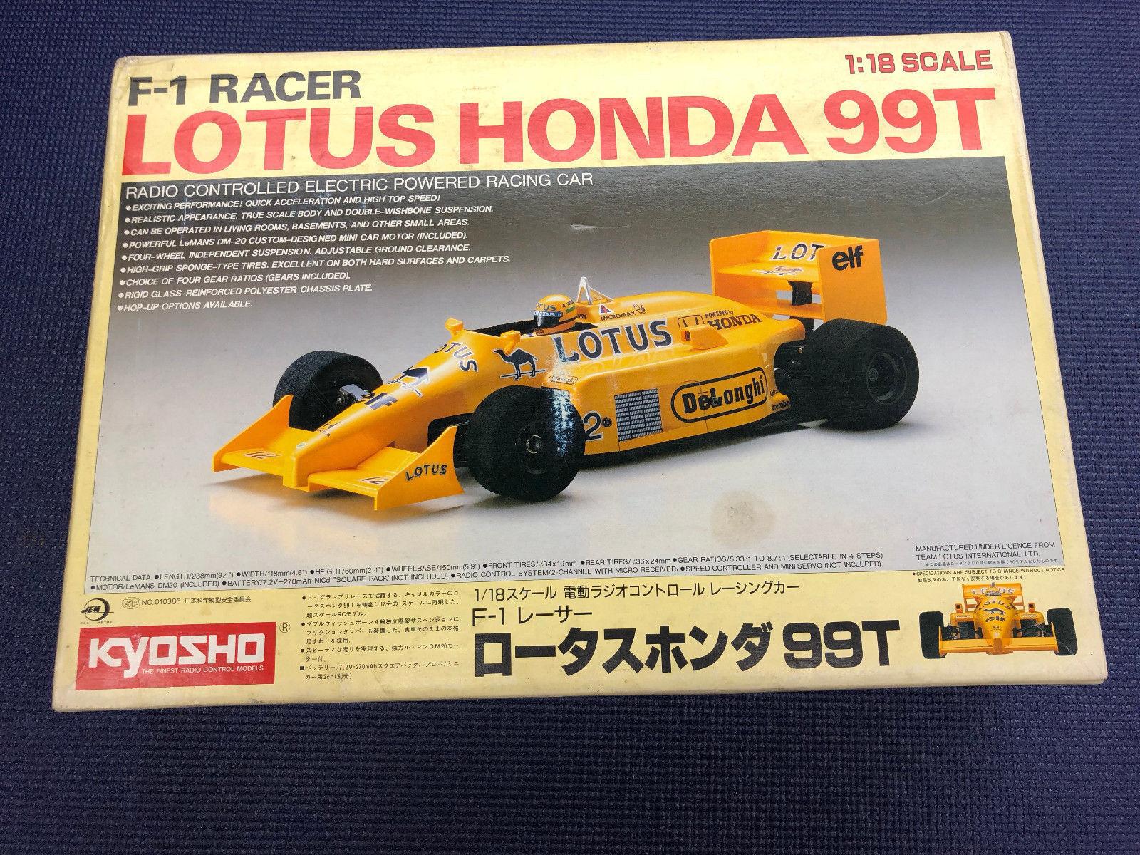 Vintage kyosho f1 - racer 1   18 lotus - honda 0702 00 rc formel - 1 - 1.