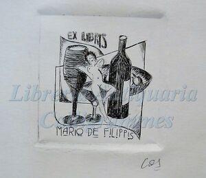 Erotica - Ex-libris Originale Firmato Eduardo Campelo Eros Vino M. De Filippis B9tydx44-07235836-956567187