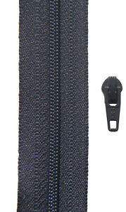 Gp 0,75 €//m 50 Zipper YKK 25 Meter Reißverschluss dunkel blau Spirale 3 mm