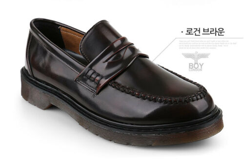 KrystalSB BoyLondon Korea Made Mens Penny Loafers Party Wedding Shoes US7~12