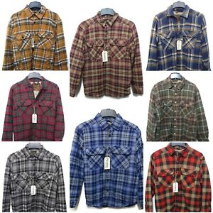Outdoor Life Men Flannel Shirt Jacket Faux Sherpa Lining