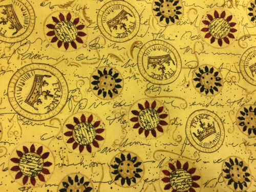 Gold Crowns Regal Printed 100/% Cotton Poplin Fabric.