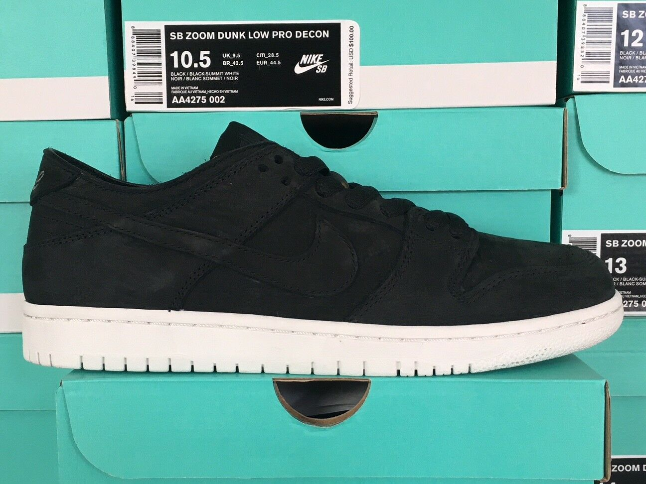 Nike SB Dunk Low Decon Deconstructed AA4275-002 Black Summit White Size 6