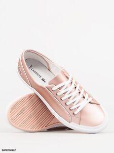 c3b559349fe08 Lacoste Women s Lancelle 6 Eye 117 2 Trainers - Light Pink sneakers ...