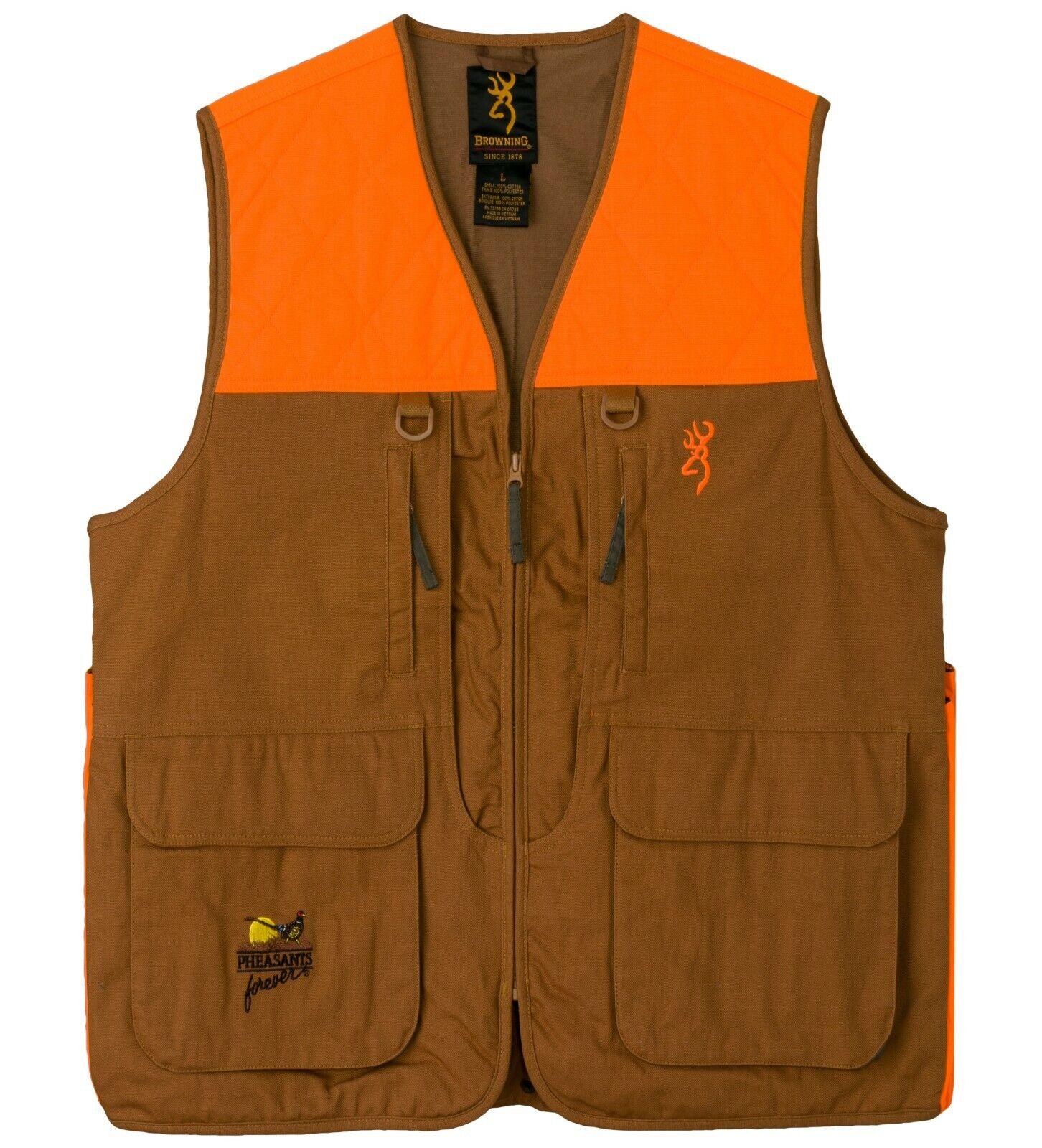 Browning  Pheasants Forever Vest, Khaki Blaze with Pheasants Forever Embroidery  with 100% quality and %100 service
