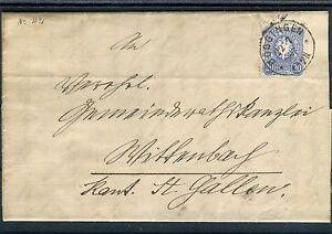 Deutsche-Reichs-Post-20-Pfg-EF-von-Doeggingen-nach-St-Gallen-b1961