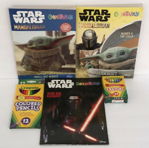 5pc-Star-Wars-Mandalorian-Baby-Yoda-Coloring-amp-Stickertivity-Books-Crayons-etc