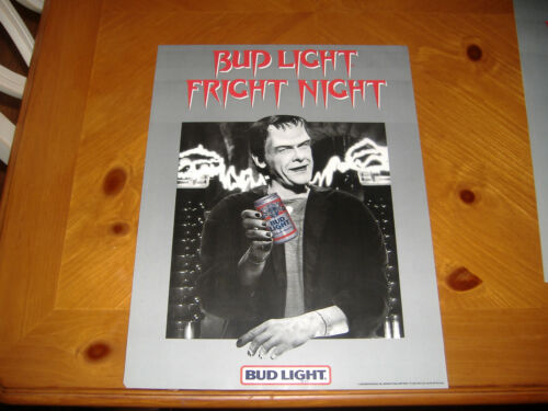 RARE 1985 VINTAGE SCI-FI  BUD LIGHT FRIGHT NIGHT HALLOWEEN  FRANKENSTIEN POSTER