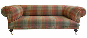 Image Is Loading Large New Hand Built Tartan Chesterfield Sofa