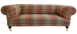 Bon Image Is Loading Large New Hand Built Tartan Chesterfield Sofa