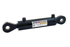 Hydraulic Cylinder Welded Double Acting 2 5″ Bore 6″ Stroke Swivel Eye 2 5×6
