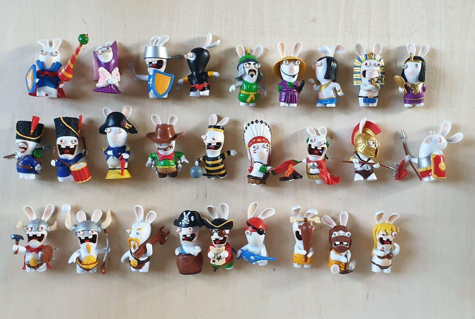 Masse de 27 figurines Lapins Crétins - Retour vers le Passé - Complet -