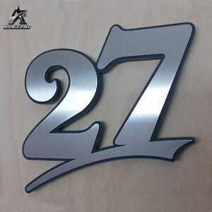 Edelstahl Hausnummer 27, 17cm,20cm,30cm<wbr/>,1-999,a-e, anthrazitgraue<wbr/>s Plexiglas