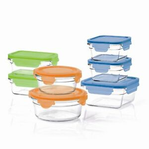 Glasslock Snaplock Food Storage Container 14 Piece Set Oven to
