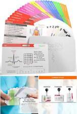 Badgeguru Set By Tribe Rn 26 Nursing Badge Reference Cards Ekg Vitals Lab