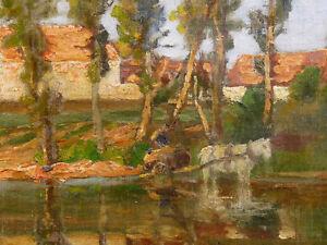 Henri-Laurent-Mouren-1844-1926-Landschaft-Impressionist-Marseille-Harpignies