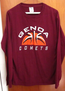 Genoa comets medium longsleeves t shirt ohio tee high for High school basketball t shirts