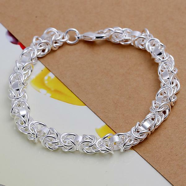 beautiful Fashion charms lady silver Plated circle women cute bracelet H73