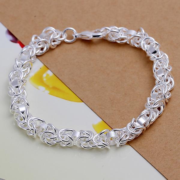beautiful Fashion charms lady silver circle women cute bracelet H73