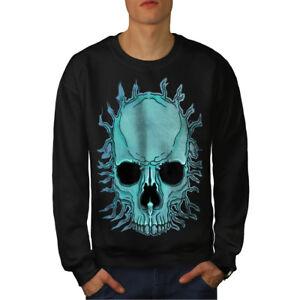 Nuevo Death Negro Men Flare Sudadera Skull Metal AxcZ1w1n