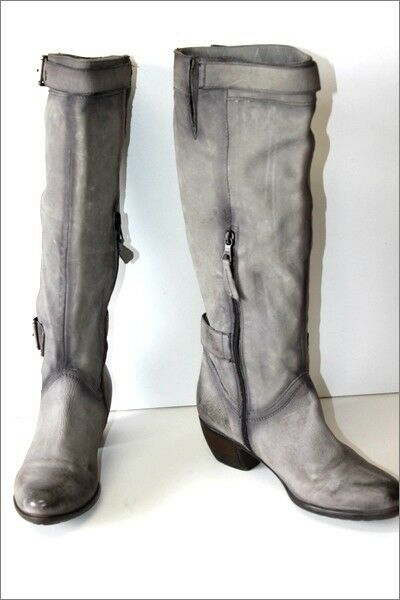 HEYRAUD Boots heels Leather Grey Lined leather T 41 VERY GOOD CONDITION