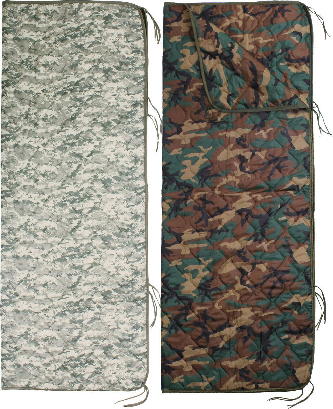 Digital Camouflage Zipper Poncho Liner Military Blanket Army Woobie 62  x 82