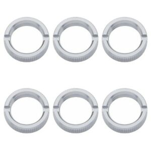 Set of 6 Chrome Peterbilt and Freightliner Toggle Switch Face Nut