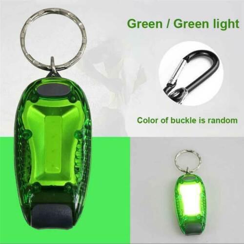 Key Ring Clip LED Warning Light Lamp for Dog Walking Running Cycling Hiking