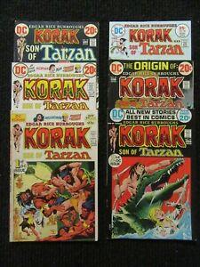 Korak Son Of Tarzan  1st DC Issue!!  #46-#58  6 Higher Grade Books!! See Pics!!