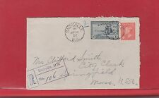 1952 Sackville, N.B. Registered Peace Issue George VI Canada cover