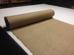 "Burlap Jute Natural Fabric 10 Yards 54"" Wide 10 Oz Table top Vintage Upholstery"