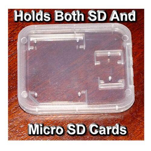 sostiene ambas tarjetas juntos Tarjeta SD//Micro SD Card Holding Caso