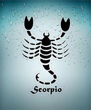 aufkleber sticker tierkreiszeichen zeichen skorpion scorpio schwarz  transparent