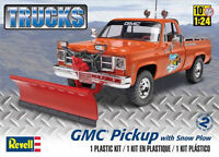 Revell 1/24 Gmc Pickup W/ Snow Plow Plastic Model Kit 85-7222 857222