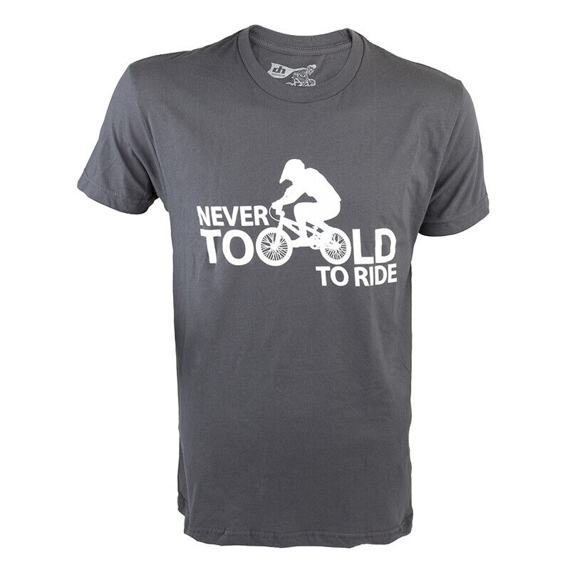 Dh Designs Niemals zu Alt Kleidung T-Shirt Dhd Niemals zu Alt Md Gry
