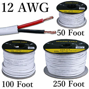 12 Awg Solid Copper Stranded Speaker Wire 2 Conductor