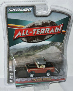 Greenlight-All-Terrain-1972-FORD-BRONCO-Brown-Black-Silver-1-64