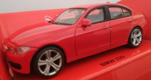 1//43 BMW SERIE 3 ROJO COCHE DE METAL A ESCALA COLECCION DIE CAST