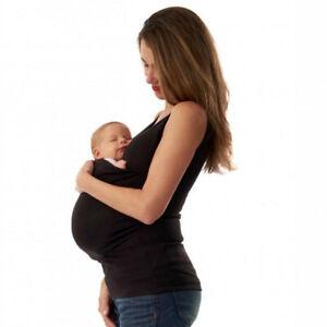 Women's Sleeveless Kangaroo Mommy Pocket Tops Breastfeeding T-Shirt Blouse US