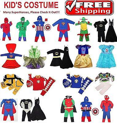 NEW SIZE 1~10 KIDS COSTUMES BOY DRESS UP PARTY SUPERHERO BATMAN COSTUME GIFT TOY