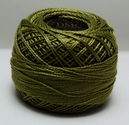 Size 8 Color #581 green C 10 gram DMC Pearl Cotton Ball