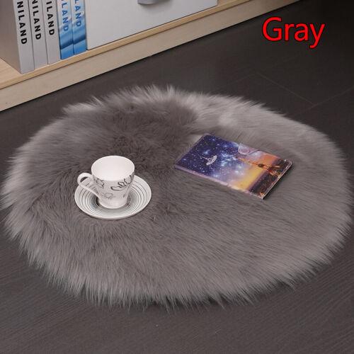 35x35cm Warm Seat Pad Plush Cover Chair Cushion Round Faux Fur Wool Soft