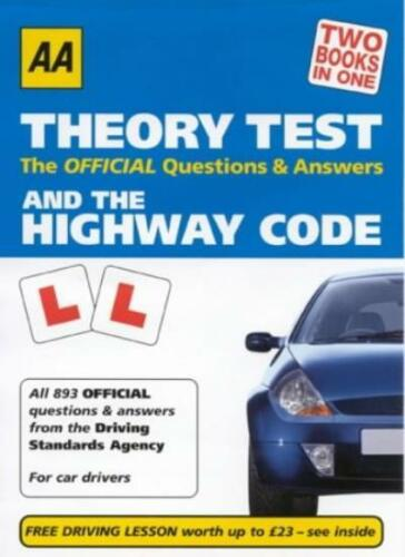 1 of 1 - AA Driving Test Theory and the Highway Code By Anon