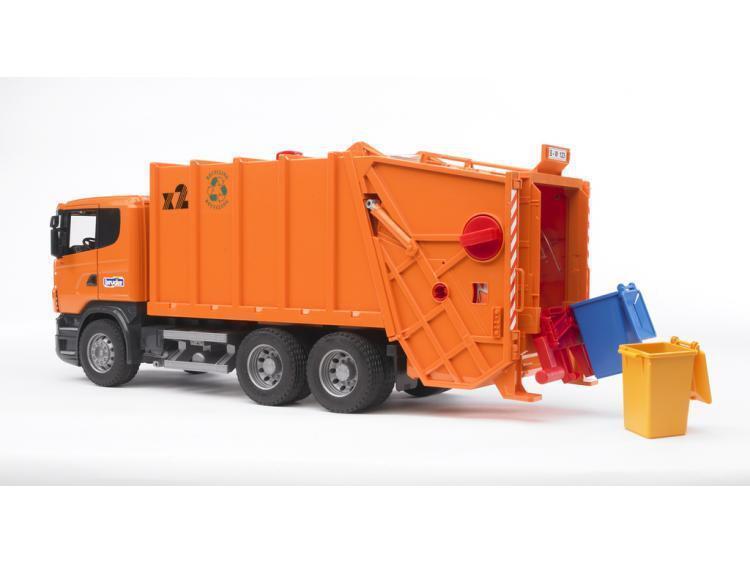 Bruder 03560 SCANIA R-Serie Müll-LKW (Orange) 1:16 Profi Serie