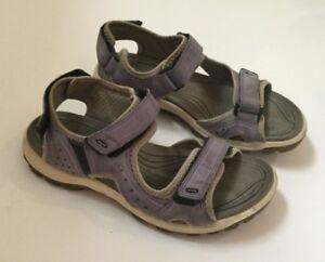 Details about ECCO Womens Yucatan Sandals Purple Suede 37 Walking Hiking