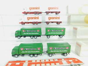 BO745-0-5-4x-Wiking-H0-1-87-LKW-MB-457-331-Einbecker-457-127-Granini-s-g-OVP