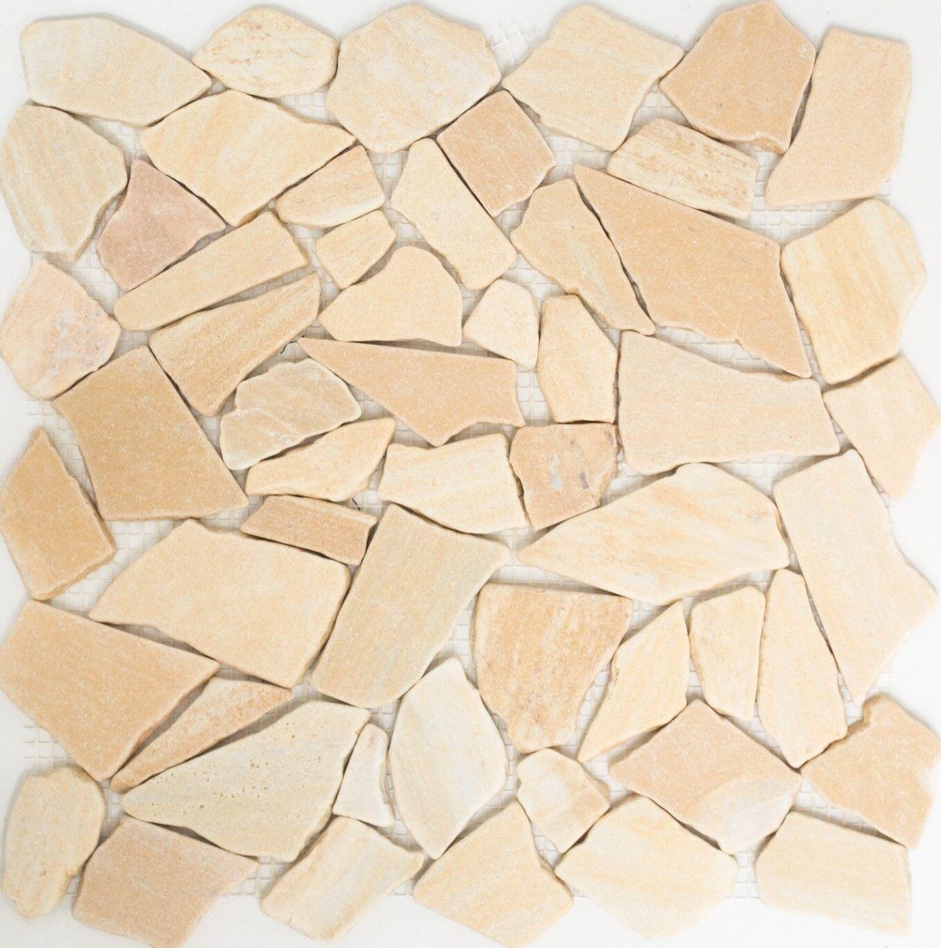 Mosaik Fliese Marmor Naturstein gelb Bruch Ciot Gelb Reale 44-1202_f 10 Matten