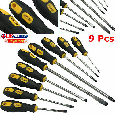 Heavy Duty 6 Pieces Soft Grip Magnetic Tip Torx Ratchet Screwdriver Tools Set UK